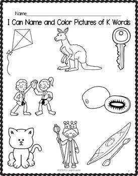 Letter of the Week: Letter K Workbook (PreK & Kindergarten)
