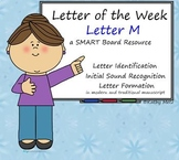 Letter of the Week:  Letter M:  A SMART Board Resource
