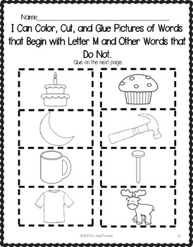 Letter of the Week: Letter M Workbook (PreK & Kindergarten) | TpT