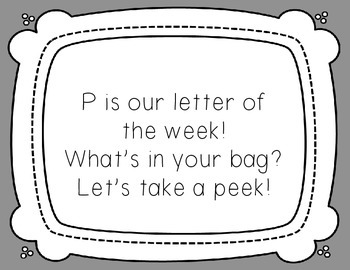 Letter of the Week: Letter P