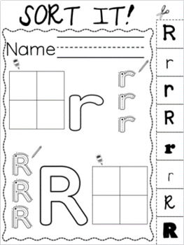 Letter of the Week ~ Letter R  ~ Set 1