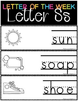 Letter of the Week - Letter S