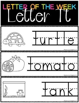 Letter of the Week - Letter T