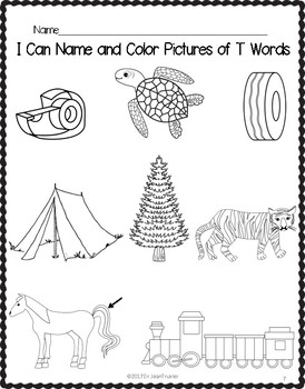 Letter of the Week: Letter T Workbook (PreK & Kindergarten)