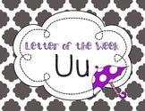 Letter of the Week: Letter U