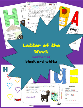 Letter of the Week Letter U Black and White