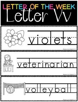 Letter of the Week - Letter V