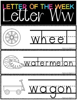 Letter of the Week - Letter W