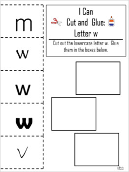 Letter of the Week ~ Letter W ~ Set 1