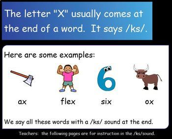 Letter of the Week:  Letter X:  A SMART Board Resource