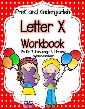 Letter of the Week:  Letter X Workbook (PreK & Kindergarten)