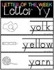 Letter of the Week - Letter Y