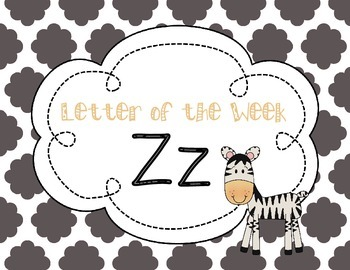 Letter of the Week: Letter Z