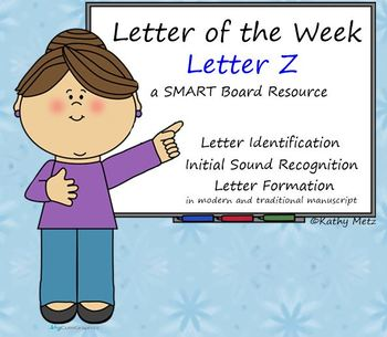 Letter of the Week:  Letter Z:  A SMART Board Resource