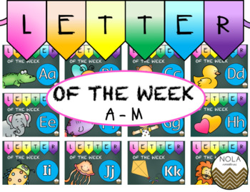Letter of the Week- MEGA BUNDLE Part I (A-M)