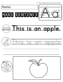 Letter of the Week Make Sentence No Prep Worksheets