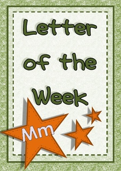 Letter of the Week - Mm