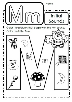 alphabet activities letter mm by teaching products tpt. Black Bedroom Furniture Sets. Home Design Ideas