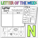 Letter of the Week N - Learn the Alphabet