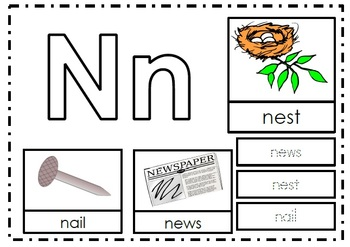 Alphabet Activities Letter Nn