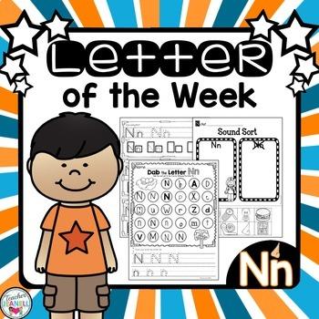 Alphabet Letter of the Week -Nn