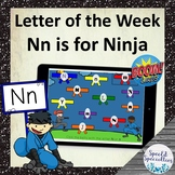 Letter of the Week Nn is for Ninja BOOM Cards™ for Distanc