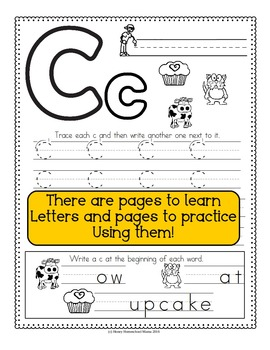 Complete Letter of the Week - No Prep, Print and Go Bundle A to Z -1,040 Pages!