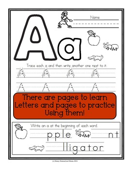 Letter of the Week - No Prep Print and Go Bundle for the Letter A - 40 Pages!