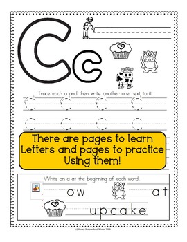 Letter of the Week - No Prep Print and Go Bundle for the Letter C - 40 Pages