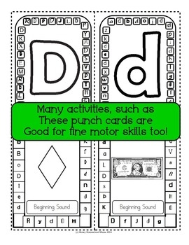 Letter of the Week - No Prep Print and Go Bundle for the Letter D - 40 Pages