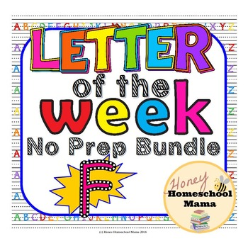 Letter of the Week - No Prep Print and Go Bundle for the Letter F - 40 Pages