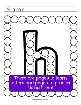 Letter of the Week - No Prep Print and Go Bundle for the Letter H - 40 Pages
