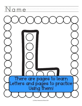 Letter of the Week - No Prep Print and Go Set for the Letter L - 40 Pages