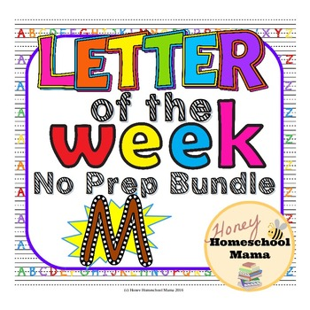 Letter of the Week - No Prep Print and Go Set for the Letter M - 40 Pages