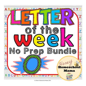 Letter of the Week - No Prep Print and Go Set for the Letter O - 40 Pages