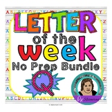 Letter of the Week - No Prep Print and Go Set for the Letter Q - 40 Pages