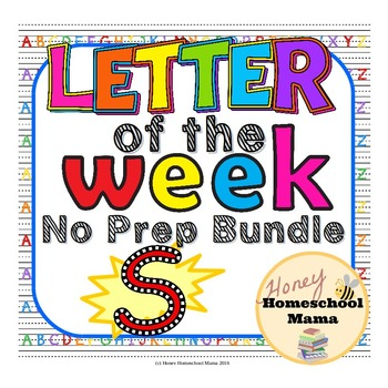 Letter of the Week - No Prep Print and Go Bundle for the Letter S - 40 Pages