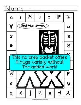 Letter of the Week - No Prep Print and Go Bundle for the Letter W - 40 Pages