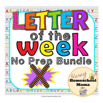 Letter of the Week - No Prep Print and Go Set for the Letter X - 40 Pages