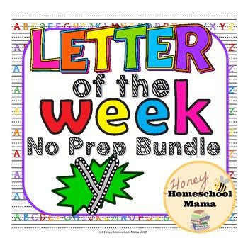 Letter of the Week - No Prep Print and Go Bundle for the Letter Y - 40 Pages