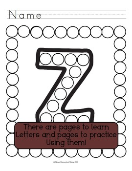 Letter of the Week - No Prep Print and Go Set for the Letter Z - 40 Pages