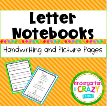 Letter of the Week Notebooks