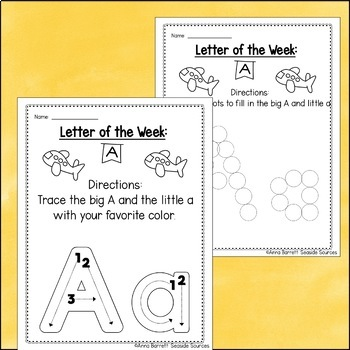 Letter of the Week Packet: A
