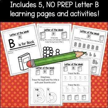 Letter of the Week Packet: B