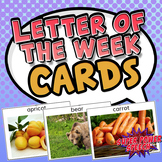 Letter of the Week Photo Cards