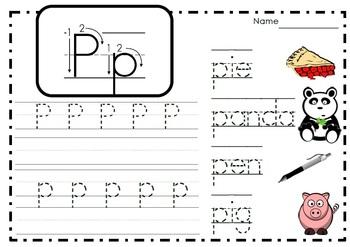 Alphabet Activities Letter Pp