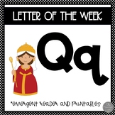 Letter of the Week ❤️ Q Emergent Reader and Literacy Materials