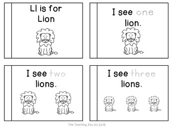 Letter of the Week Readers - L l is for Lion