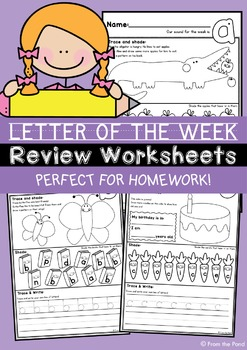 Letter of the Week Review Worksheets