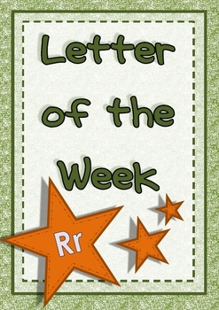 Letter of the Week - Rr